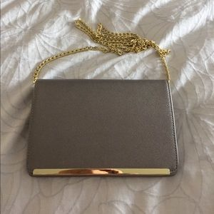 Handbags - Small silver textured leather evening bag